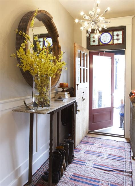 narrow entryway entryway narrow tables interior decorating