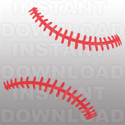 baseball pattern template baseball stitches pattern svg file cutting template clip