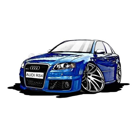 cartoon audi audi a4 rs4 cartoon caricature