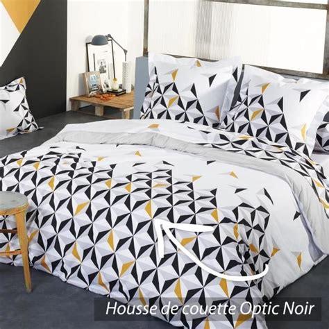 Housse De Couette 280x240 by Housse De Couette 280x240 Cm 100 Coton Optic Noir Achat