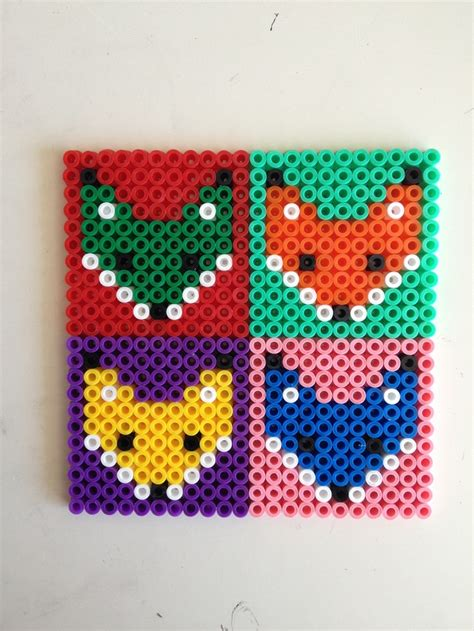 hama bead patterns fox hama perler coasters craft ideas