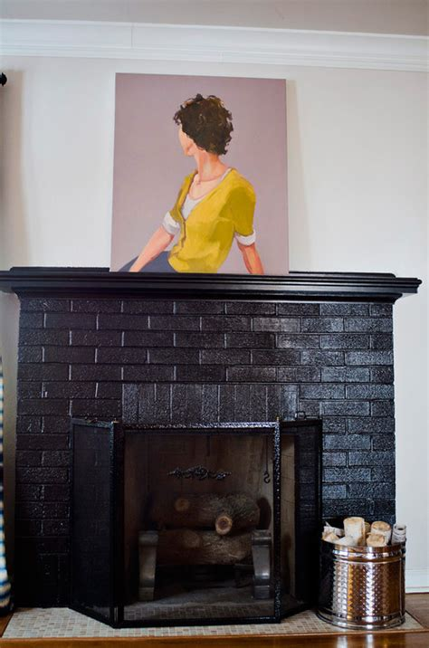 Black Painted Brick Fireplace by The Colour Of The Brick Fireplace Can You Tell Me
