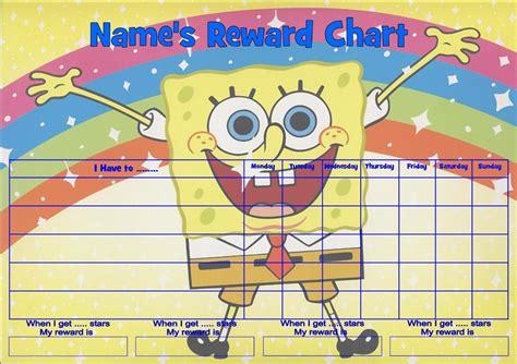 free printable reward charts spongebob spongebob squarepants job behavior reward homework chart