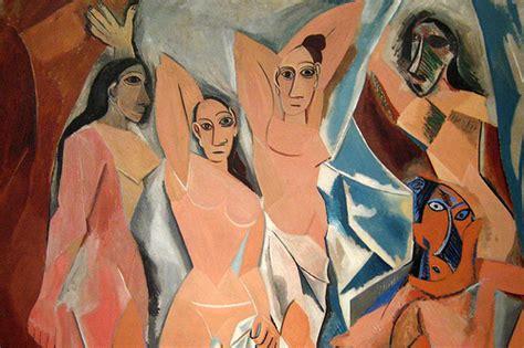 picasso paintings les demoiselles juxtaposition remixed jump shrimp