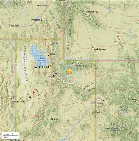earthquake locations 4 1 earthquake shakes area near duchesne cedar city news