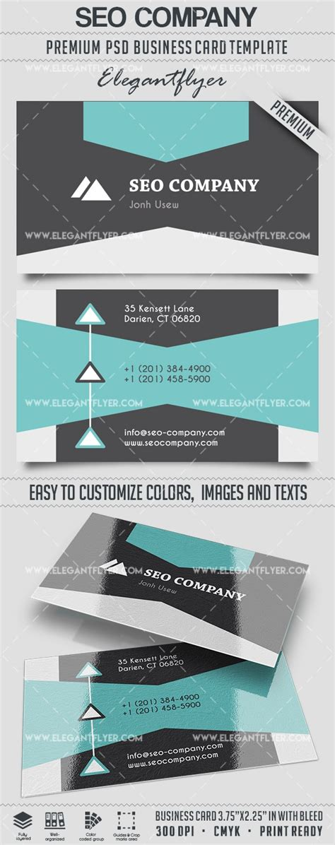 seo company business card templates psd by elegantflyer