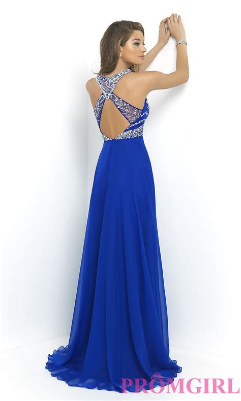 high neck beaded prom gown blush prom dress