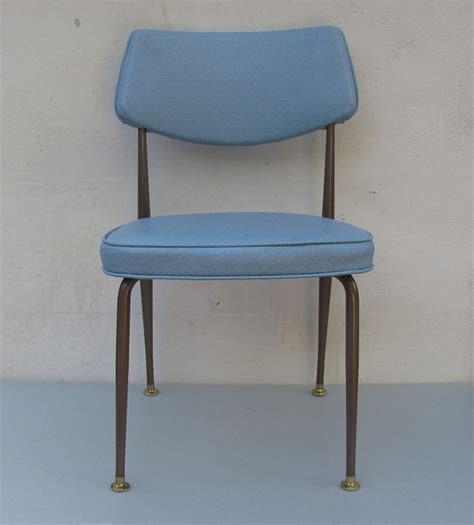 mid century kitchen chairs vintage mid century kitchen table chair blue by daveysvintage
