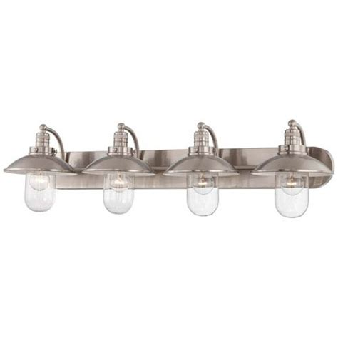 four light bathroom fixture minka lavery downtown edison brushed nickel four light