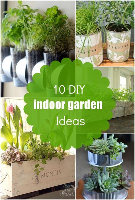 diy indoor garden 10 diy indoor planter and herb garden ideas