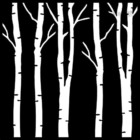 Download Your Free Birch Tree Stencil Here Save Time And Start Your Project In Minutes Get Tree Stencil Template