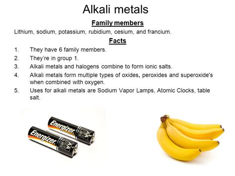alkaline metal in table salt the great ppt