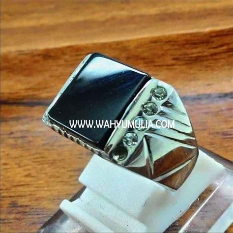 Cincin Batu Onyx batu cincin onyx hitam kode 318 wahyu mulia