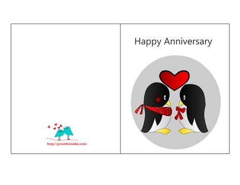 Anniversary Card Template by Free Printable Anniversary Cards