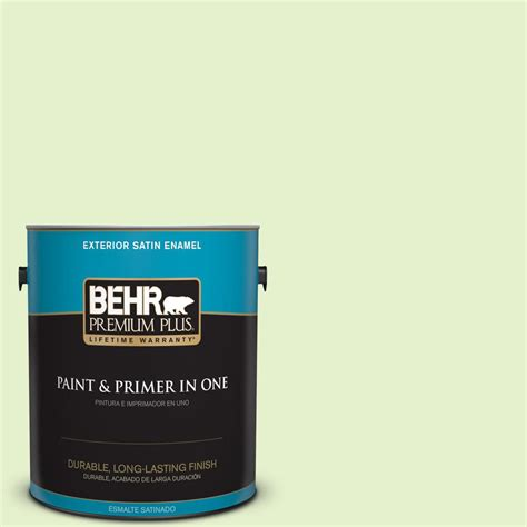 behr premium plus 1 gal 420c 2 water sprout satin enamel exterior paint 905001 the home depot