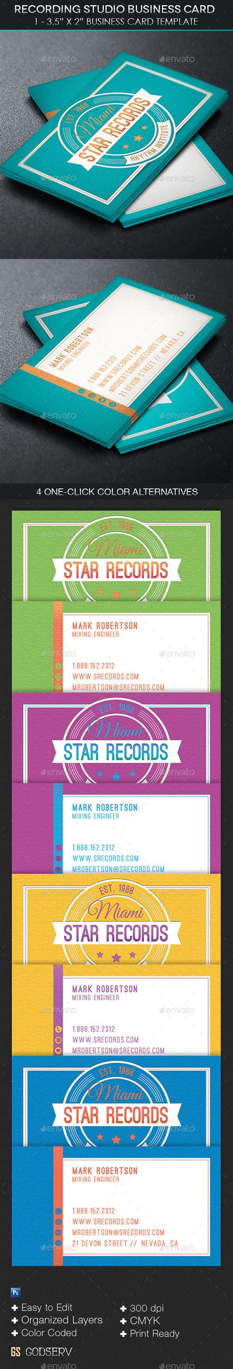 recording studio business card templates recording studio flyer psd 187 dondrup