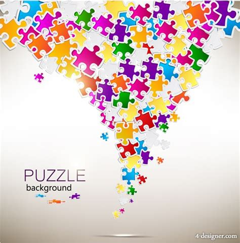 puzzle design elements vector 4 designer fashion puzzle design vector material 04