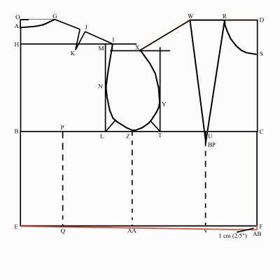 Pattern Drafting Large Bust   pattern drafting 101 drafting the basic bodice block