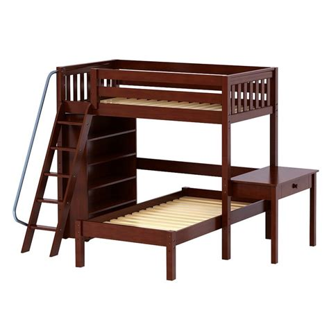 high loft bed with desk maxtrixkids knockout5 cs high loft bed with angled
