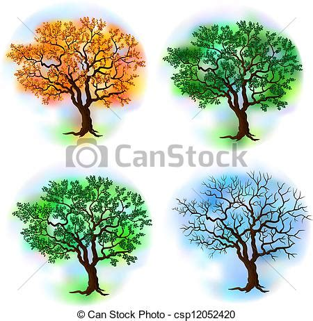 tree seasons come seasons 1848691815 four season trees deciduous tree in four seasons vector vector illustration search