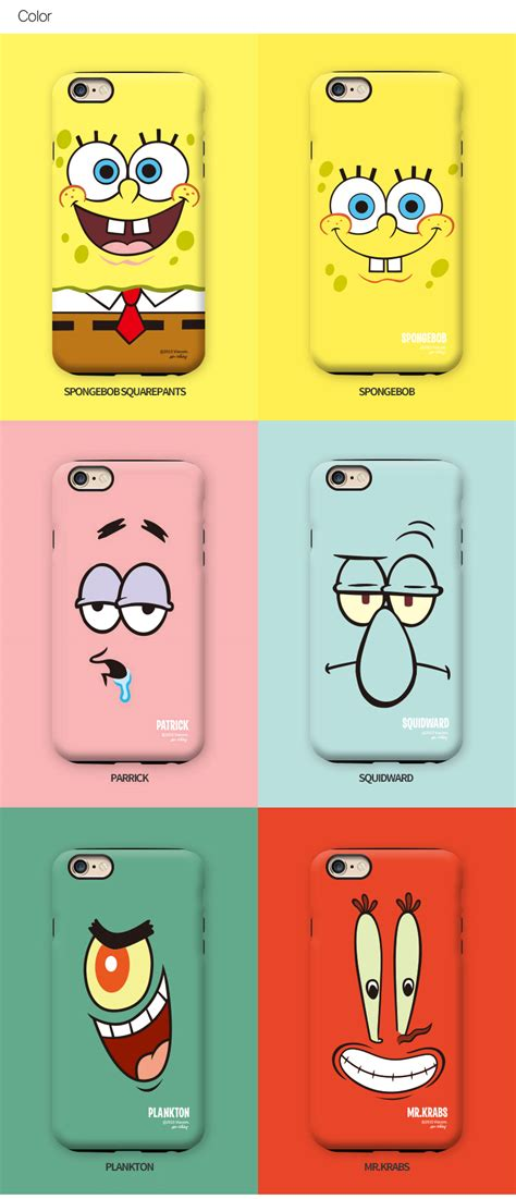 Plankton V1214 Iphone 6 6s by Gcase Guardup Spongebob Protect Bumper Cover For