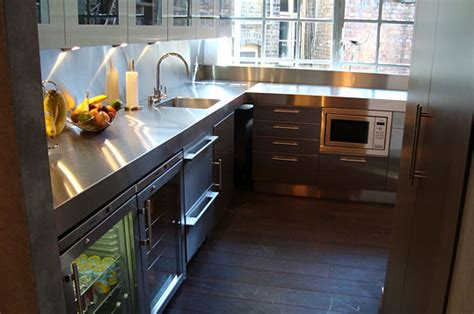 Kitchen Island Stainless hybrid stainless steel kitchen base and wall cabinets free