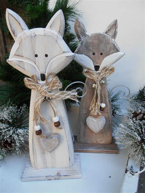 holzarbeiten zu weihnachten selber machen details zu 176 176 f 252 chse aus holz 176 176 handarbeit tierfigur shabby natur deko herz fuchs glocke