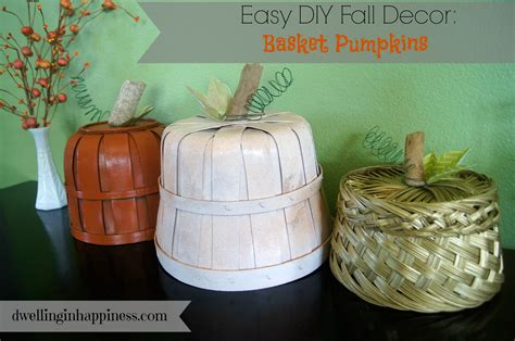 diy craft down easy diy fall decor basket pumpkins