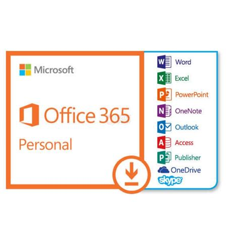 Software Microsoft Office 365 microsoft office 365 personal 1 device 12 months