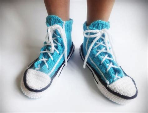 knitted converse slippers relax in school style with these knitted converse