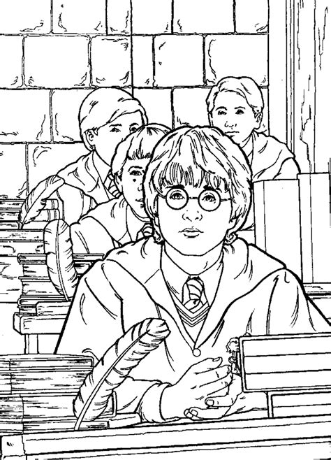 harry potter coloring book colored coloring pages harry potter coloring pages free and printable