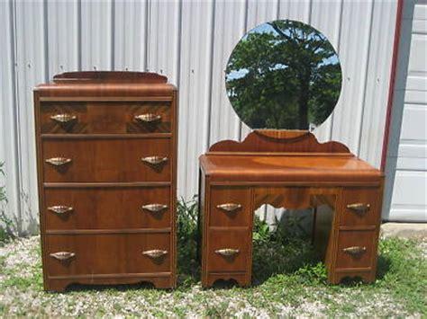 antique waterfall vanity dresser gorgeous antique waterfall vanity dresser set mirror