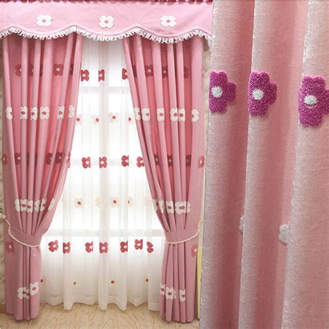 pink and white curtains for nursery lovely pink chenille floral room nursery curtains