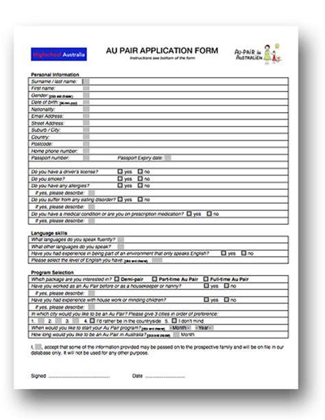 Bewerbungsformular Herunterladen Bewerbung Und Anmeldung Au Pair In Australien