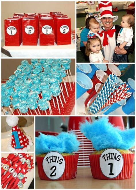 Thing 1 and 2 Party Ideas for Kids