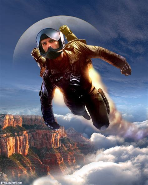 rocket man rocket man flying over the grand canyon pictures