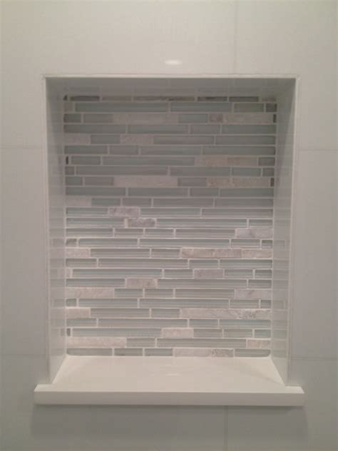 Accent Table Decor Glass Tile Shower Contemporary Bathroom Miami By