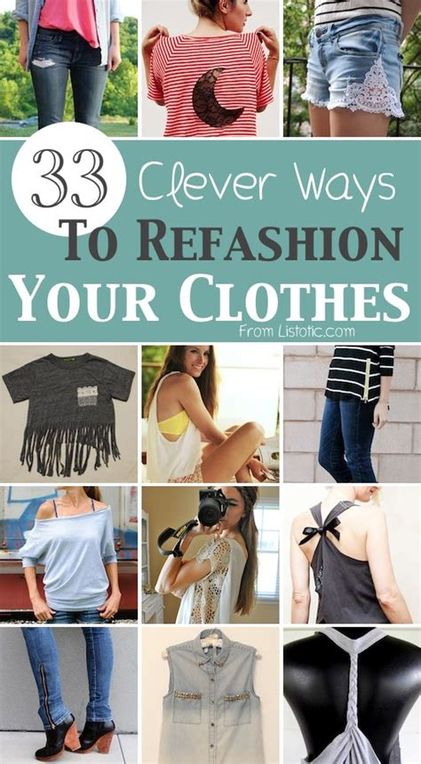 8 Ways To Customise Your Clothes by 33 Clever Ways To Refashion Clothes With Tutorials