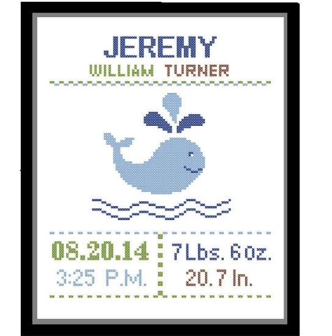 Cross Stitch Birth Records 1 Cross Stitch Custom Pattern Baby Boy Personalised Birth Announcement Birth Record