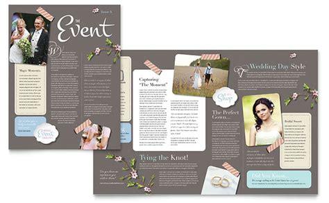 Wedding Planner Newsletter Template Design