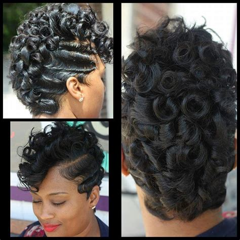 black women on pinterest with fingerwave and curl hairstyles waves and pin curls by kiastylez natural hair