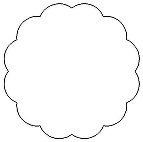 Scalloped Edge Border Clipart Clipart Suggest Flower Banner Template