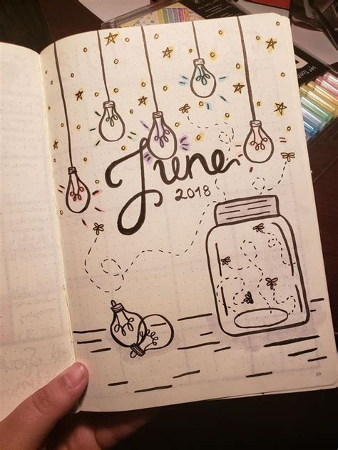 bullet journal june cover page beautiful ideas