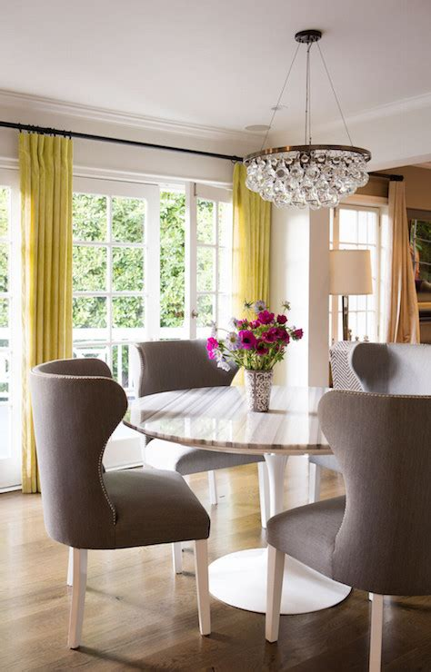 Yellow Dining Room Curtains Ideas Yellow Dining Rooms Design Ideas