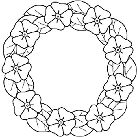 California Poppy  Garland Of Coloring Page sketch template
