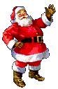 anmated waving snata santa clause clip animations