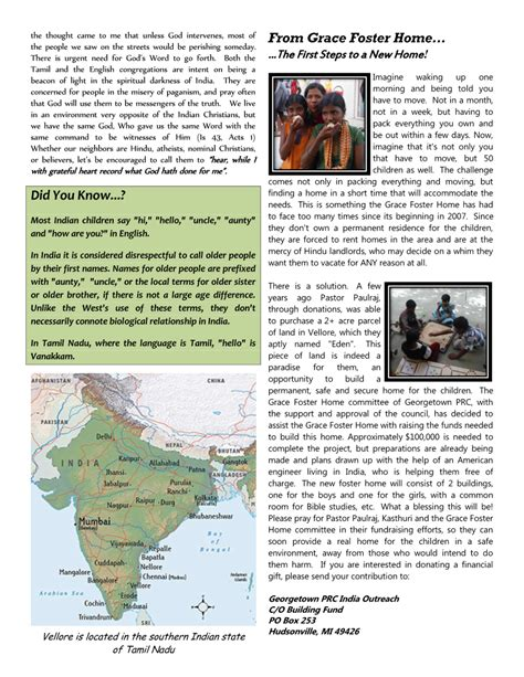 Charming Hudsonville Reformed Church #4: India_Newsletter_-_April_2014_Page_2.png