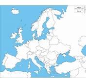 Europe  Carte G&233ographique Gratuite Muette