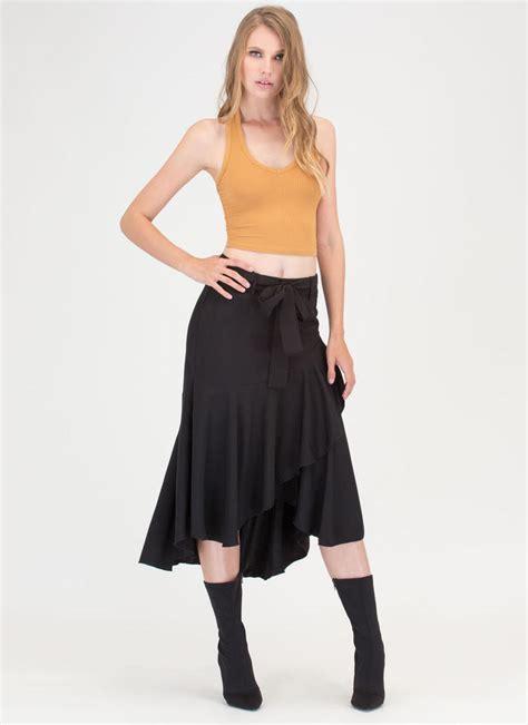Dms740 Peplum Blouse Legging Flowi Sets 1 flow your own way high low midi skirt black gojane