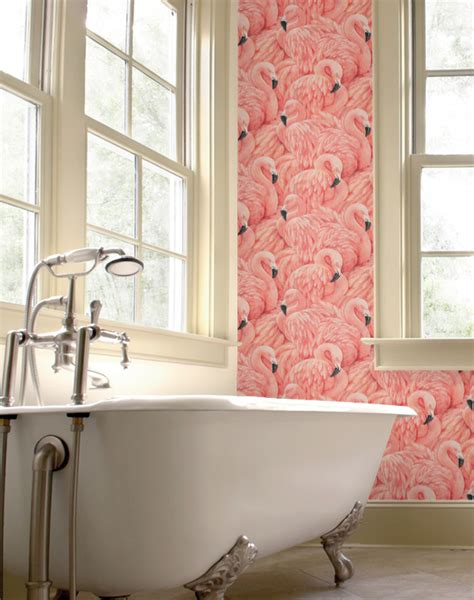 flamingo heaven wallpaper peonies brass wallpaper weekly flamingo heaven for